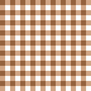 pony up: gingham in saddle leather 1 inch