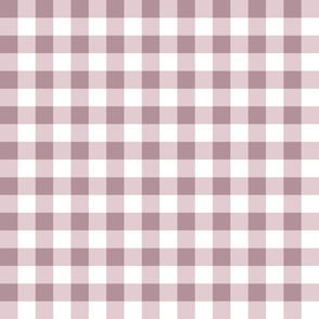 pony up: gingham in heather 1 inch