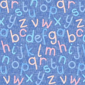 Alphabet colorway 3 on blue denim by Su_G_©SuSchaefer2020