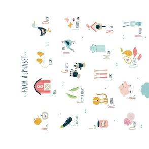 Tea towel Farm alphabet