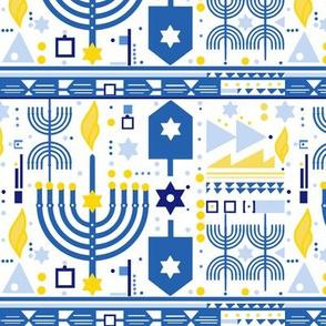 modern Hanukkah fabric - Jewish holiday diy