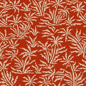Vintage Tropical Jungle - Rusty Red / Small