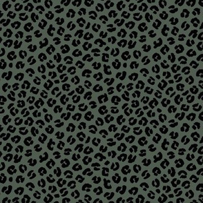 The minimalist boho leopard spots and animal print trend panther skin neutral winter nursery cameo green SMALL