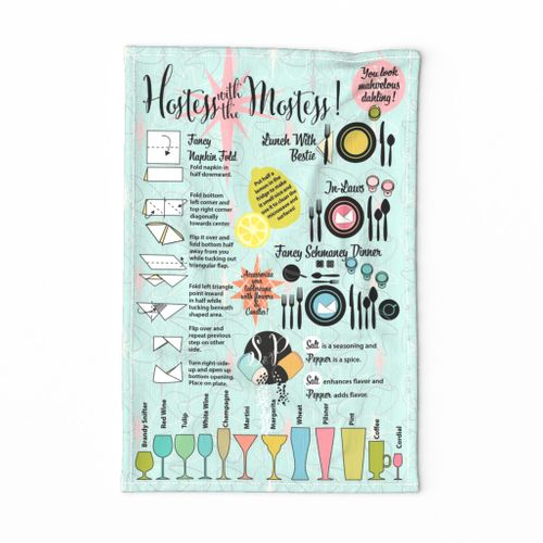 Hostess With the Mostess Tea Towel