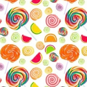 CANDY PATTERN on WHITE 4x4