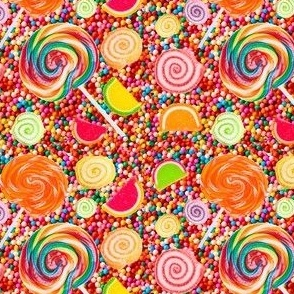 SPRINKLES AND CANDY PATTERN 4x4