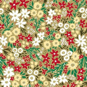 Winter Rustic Wildflowers (Gold)