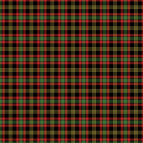 Small Red, Green, and Black Christmas Plaid