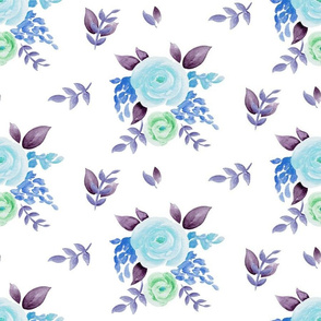 Summer Floral recolored blue