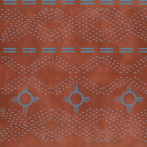 SouthWestern stitches-red earth