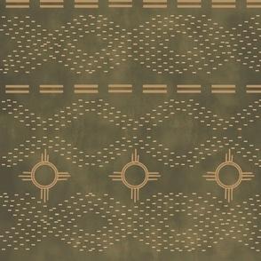 Southwestern stitches-dark sage