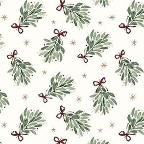 Christmas snowy Robins