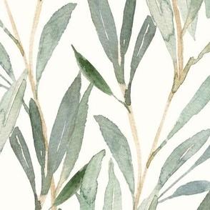Green Falling Leaves