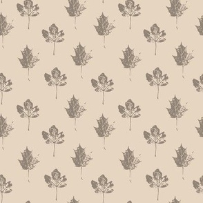 Printed Leaves  - Natural