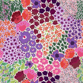 Watercolor cute ditsy floral pattern
