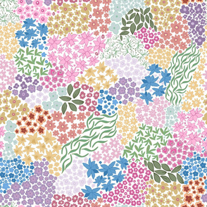 Ditsy Colorful Flowers Pattern
