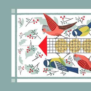 Feasting Birds Tea Towel