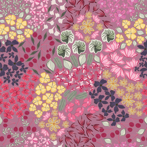 Ditsy Summer Flowers With Cherry Pattern
