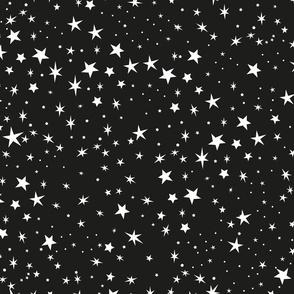 Night Sky With Cute Hand Drawn Stars Pattern
