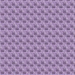 Small Cat Pattern in Lavender Purple