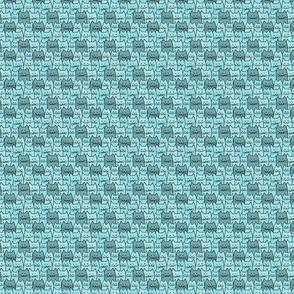 Small Cat Pattern in Light Blue