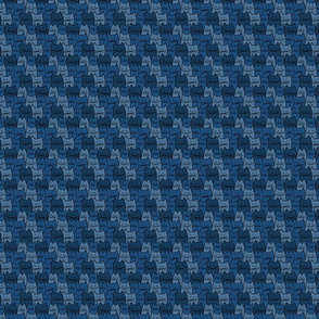 Small Cat Pattern in Navy Blue