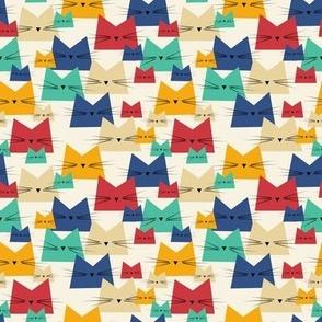 small scale cats - nala cat classic blue - geometric cats