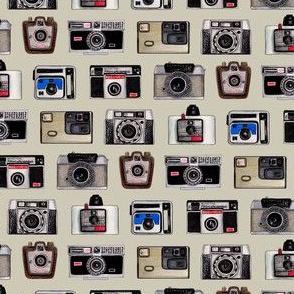 Vintage Cameras - Photography Pattern