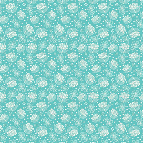 Cleo Floral Turquoise