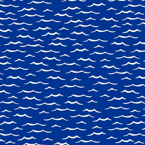 Ocean ripples dark blue, medium scale