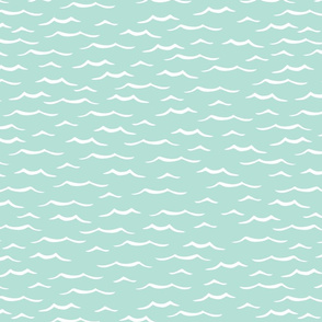 Ocean ripples mint, medium scale