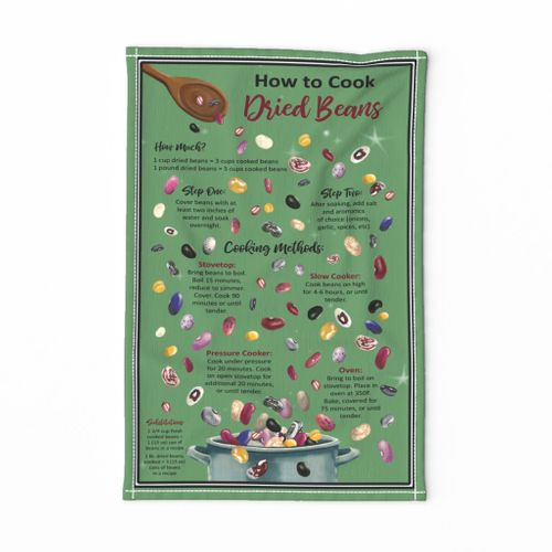 Cook Beans With Every Meal Tea Towel