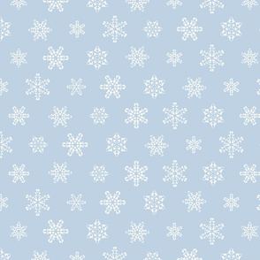Snowflakes winter pattern blue-grey