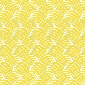 Illuminating yellow art deco yellow ocean waves