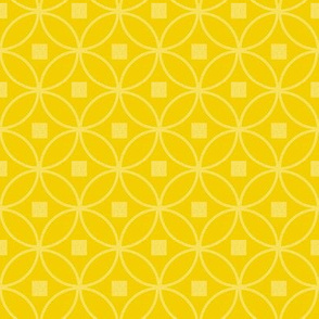 Mid century modern Circle yellow geometric textured wallpaper