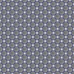 Blue edged circles