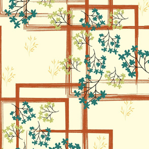 squares and vines