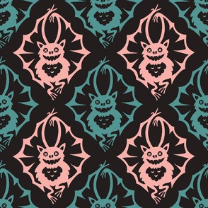The bats. Diamond pattern