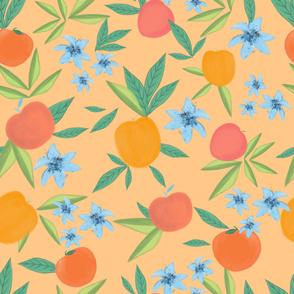 Peachy simple hand drawn pattern