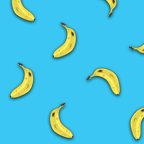 Bananas On Blue