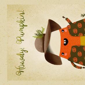Candy Corn - Howdy Pumpkin Tea towel