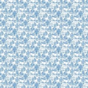 Mini Blue Toile Sampler Swatch or Fat Quarter ©2012 by Jane Walker
