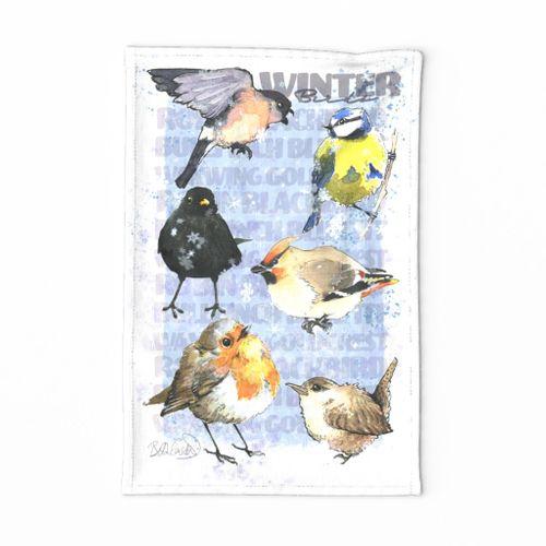 Watercolour Winter Birds