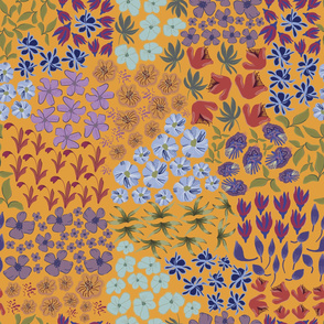 Hand Drawn Artistic Simple Flowers Pattern