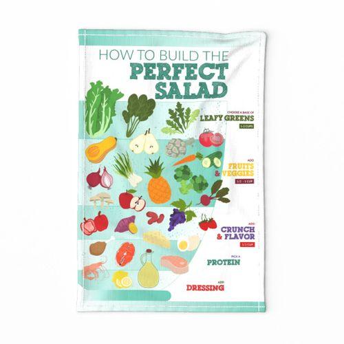 Perfect Salad Tea Towel