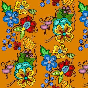 Ojibwe florals Orange