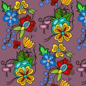 Ojibwe Florals Mauve
