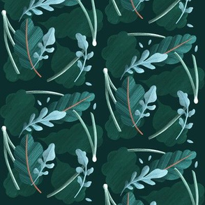 Moody Arugula in Green and Teal