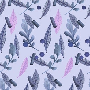 Falling Leaves and Peas in Purple and Pink