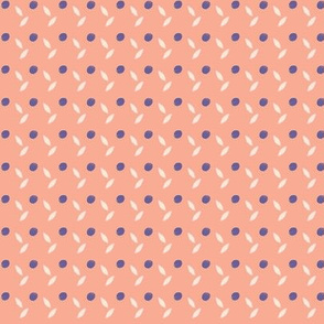 Delicate Dot and Leaf Pattern in Purple and Pink